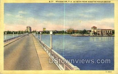 Manatee River Bridge - Bradenton, Florida FL Postcard