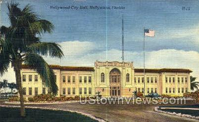 Hollywood City Hall - Florida FL Postcard