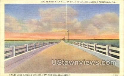 Million Dollar Pensacola Bridge - Florida FL Postcard