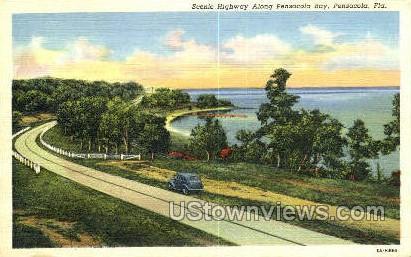 Highway - Pensacola, Florida FL Postcard