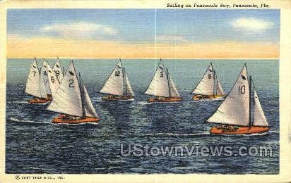 Sailing - Pensacola, Florida FL Postcard