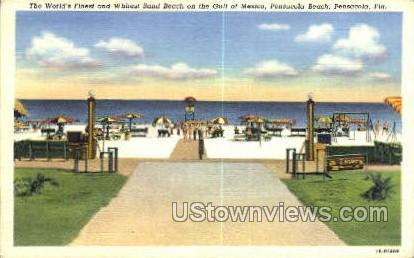 Gulf of Mexico - Pensacola, Florida FL Postcard