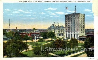 Plaza - Pensacola, Florida FL Postcard