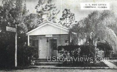 Post Office - Christmas, Florida FL Postcard