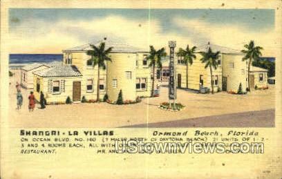 Shangri-La-Villas - Ormond Beach, Florida FL Postcard