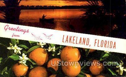 Lakeland, Florida, FL, Postcard