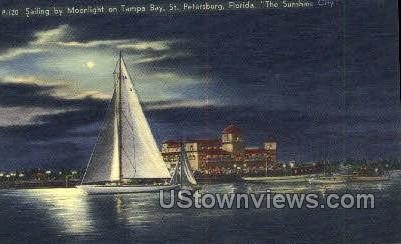 Tampa Bay - St Petersburg, Florida FL Postcard