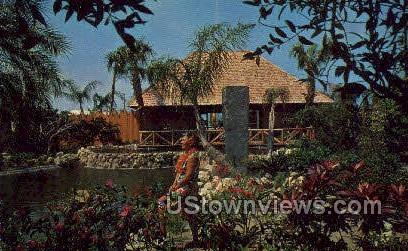 Tiki Gardens - Indian Rocks Beach, Florida FL Postcard
