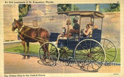 Old Landmark - St Augustine, Florida FL Postcard
