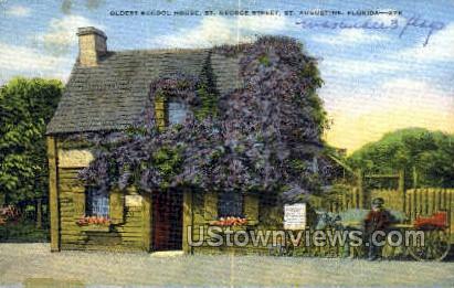 Oldest Schoolhouse - St Augustine, Florida FL Postcard