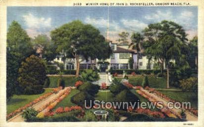 Winter Home - Ormond Beach, Florida FL Postcard