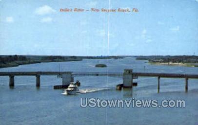 Indian River - New Smyrna Beach, Florida FL Postcard