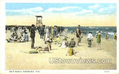 Gulf Beach - Pensacola, Florida FL Postcard