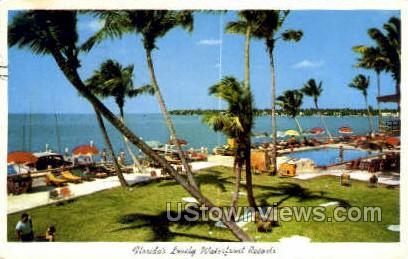 Waterfront Resort, Florida, FL, Postcard