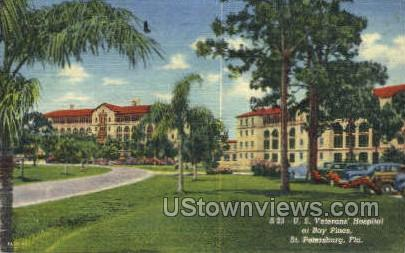 US Veteran's Hospital - St Petersburg, Florida FL Postcard