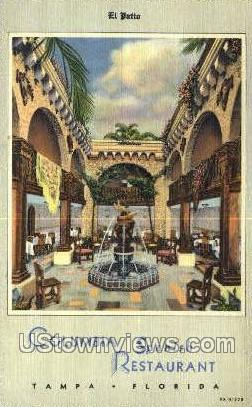 Columbia Spanish Restaurant - Tampa, Florida FL Postcard