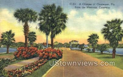 Memorial Causeway - Clearwater, Florida FL Postcard