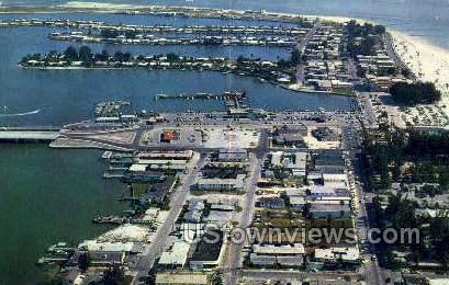 Shopping Area - Clearwater Beach, Florida FL Postcard