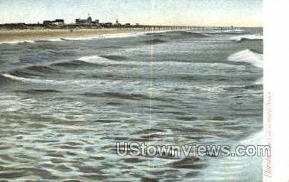 Waves - Ormond Beach, Florida FL Postcard