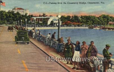 Causeway Bridge - Clearwater, Florida FL Postcard