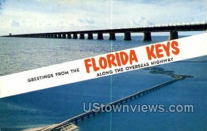 Overseas Highway - Florida Keys Postcards, Florida FL Postcard