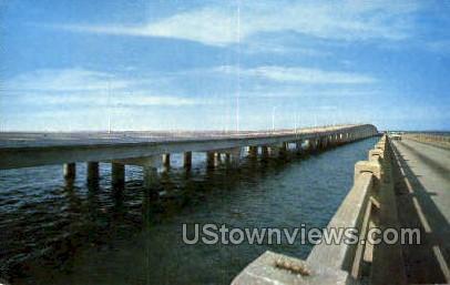 New Pensacola Bay Bridge - Florida FL Postcard