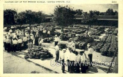 Sponge Market - Tarpon Springs, Florida FL Postcard