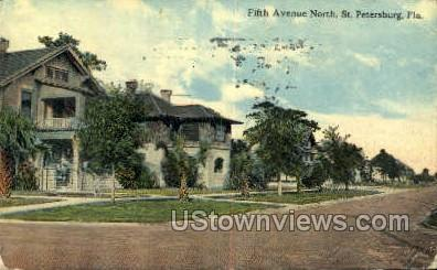 Fifth Ave North - St Petersburg, Florida FL Postcard