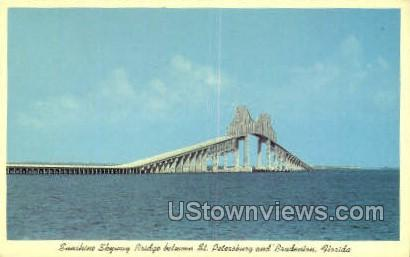 Sunshine Skyway Bridge - Bradenton, Florida FL Postcard