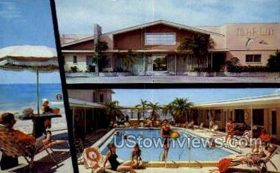 Marlin Motel - St Petersburg, Florida FL Postcard