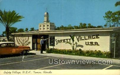 Safety Village - Tampa, Florida FL Postcard