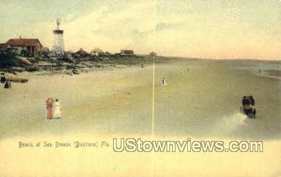 Beach at Sea Breeze - Daytona, Florida FL Postcard