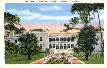 Charles Ringling Residence - Sarasota, Florida FL Postcard