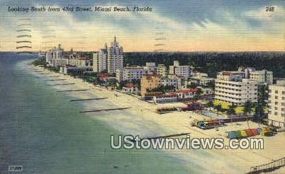 43rd Street - Miami Beach, Florida FL Postcard