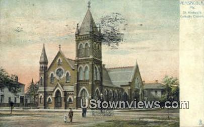 St. Michael's Catholic Church - Pensacola, Florida FL Postcard