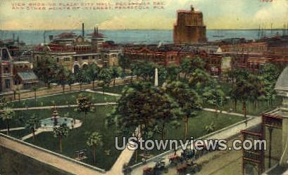 Plaza City Hall - Pensacola, Florida FL Postcard