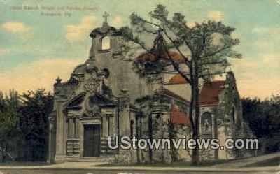 Christ Church, Writh & Palafax Streets - Pensacola, Florida FL Postcard