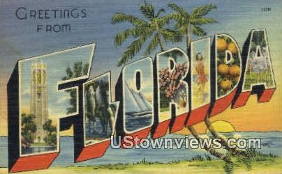 Greetings from Florida Postcard