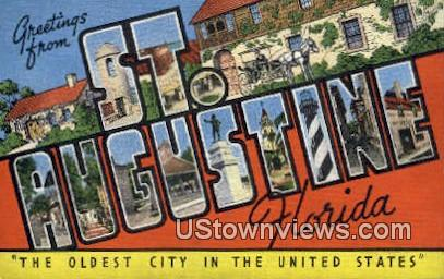 Greetings from Florida - St Augustine Postcard