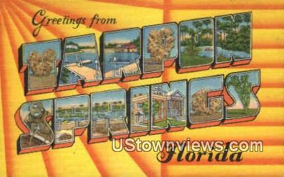 Greetings from Florida - Tarpon Springs Postcard