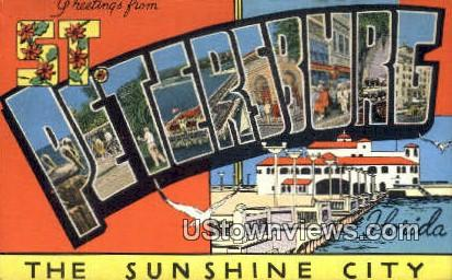 Greetings from Florida - St Petersburg Postcard