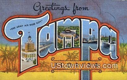 Greetings from Florida - Tampa Postcard
