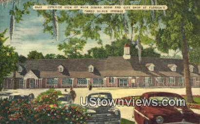 Main Dining Room, Gift Shop - Silver Springs, Florida FL Postcard