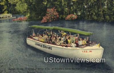 Jungle Cruise, Tropical Silver River - Silver Springs, Florida FL Postcard