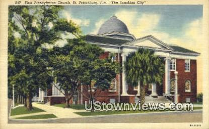 First Presbyterian Church - St Petersburg, Florida FL Postcard