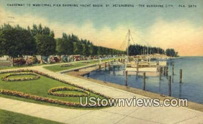 Municipal Pier - St Petersburg, Florida FL Postcard
