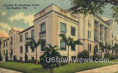 City Hall - St Petersburg, Florida FL Postcard