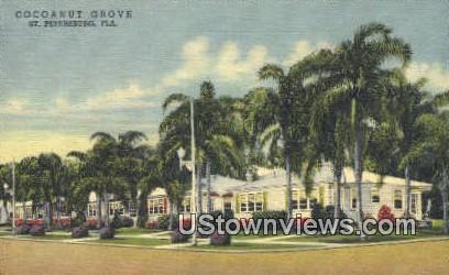 Cocoanut Grove - St Petersburg, Florida FL Postcard