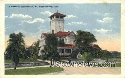 Private Residence - St Petersburg, Florida FL Postcard