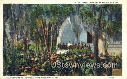 Band Concert, William Park - St Petersburg, Florida FL Postcard
